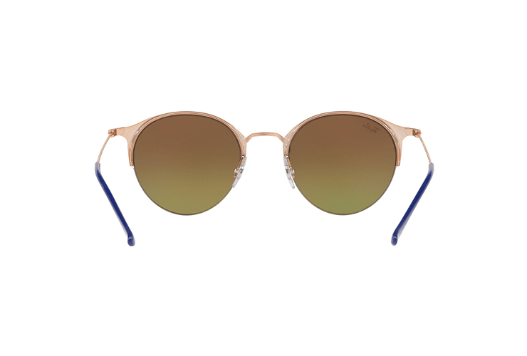Ray Ban Round RB3578 Copper Blue lente Red Mirror Gradient cod. RB3578 9036A8 50 - Image 6