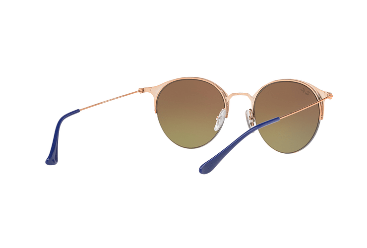 Ray Ban Round RB3578 Copper Blue lente Red Mirror Gradient cod. RB3578 9036A8 50 - Image 7