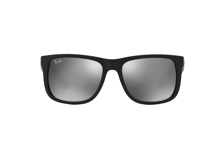Ray Ban Justin Rubber Black lente Mirror Silver cod. RB4165 622/6G 54 - Image 12
