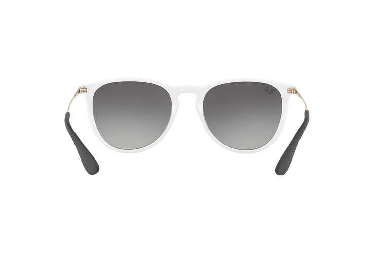 Ray Ban Erika Shiny White lente Dark Grey Gradient cod. RB4171 631411 54 - Image 6