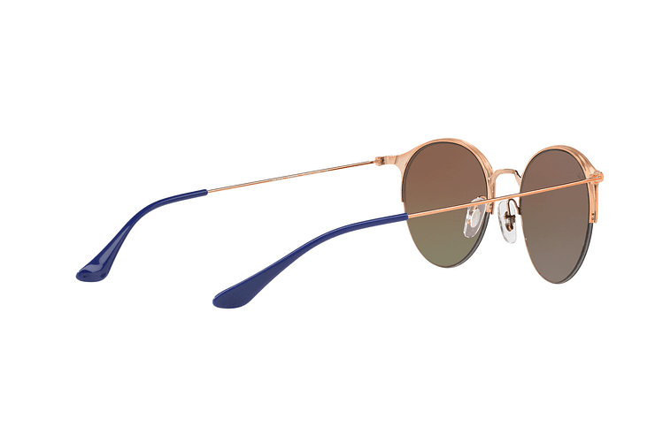 Ray Ban Round RB3578 Copper Blue lente Red Mirror Gradient cod. RB3578 9036A8 50 - Image 8
