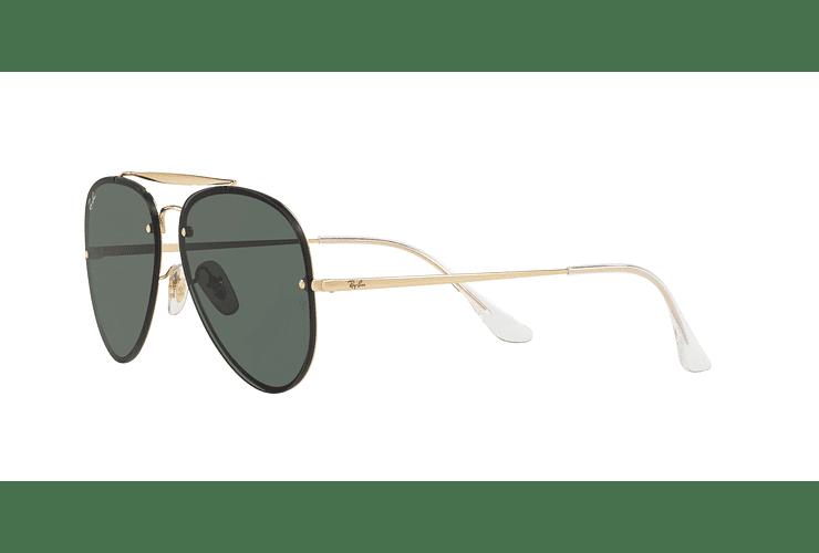 Ray Ban Aviator Blaze Gold lente Dark Green cod. RB3584N 905071 58 - Image 2