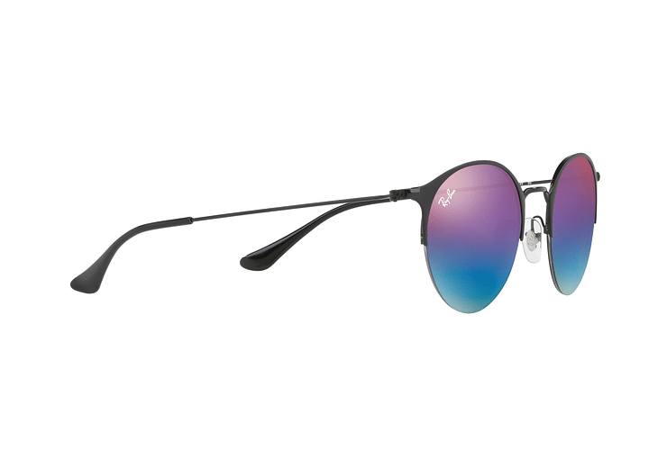 Ray Ban Round RB3578 Black lente Mirror Blue Gradient cod. RB3578 186/B1 50 - Image 10