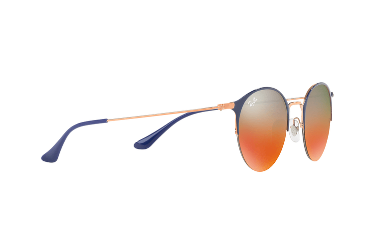 Ray Ban Round RB3578 Copper Blue lente Red Mirror Gradient cod. RB3578 9036A8 50 - Image 10