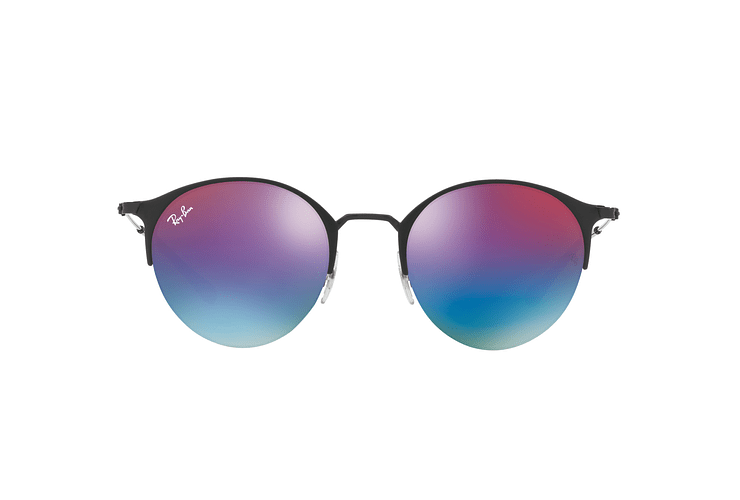Ray Ban Round RB3578 Black lente Mirror Blue Gradient cod. RB3578 186/B1 50 - Image 12
