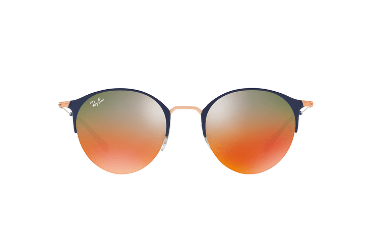 Ray Ban Round RB3578 Copper Blue lente Red Mirror Gradient cod. RB3578 9036A8 50 - Image 12