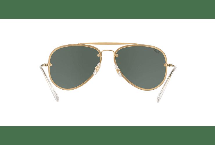 Ray Ban Aviator Blaze Gold lente Dark Green cod. RB3584N 905071 58 - Image 6
