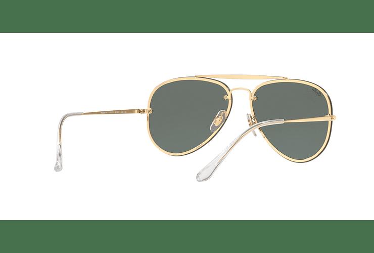Ray Ban Aviator Blaze Gold lente Dark Green cod. RB3584N 905071 58 - Image 7