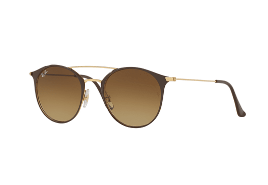 Ray Ban Round RB3546 Gold Top Brown lente Brown Gradient cod. RB3546 900985 49