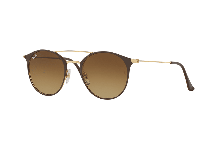 Ray Ban Round RB3546 Gold Top Brown lente Brown Gradient cod. RB3546 900985 49 - Image 1