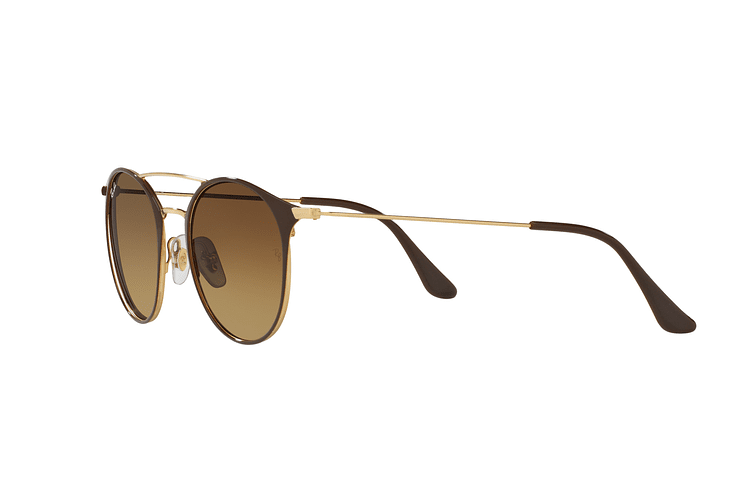 Ray Ban Round RB3546 Gold Top Brown lente Brown Gradient cod. RB3546 900985 49 - Image 2
