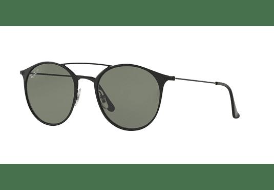 Ray Ban Round RB3546 Black Top Matte Black lente Green Polarized cod. RB3546 186/9A 49