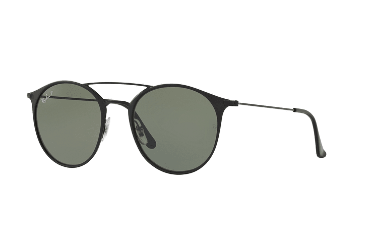 Ray Ban Round RB3546 Black Top Matte Black lente Green Polarized cod. RB3546 186/9A 49 - Image 1
