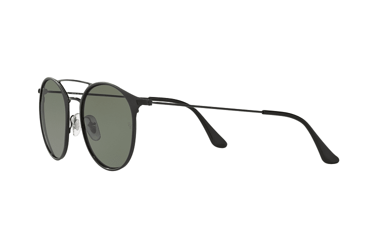 Ray-Ban Round RB3546 Black Top Matte Black lente Green Polarized cod. RB3546 186/9A 49 - Image 2