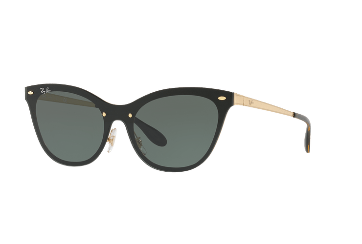 Ray Ban Blaze Cats Brusched Gold lente Dark Green cod. RB3580N 043/71 43 - Image 1