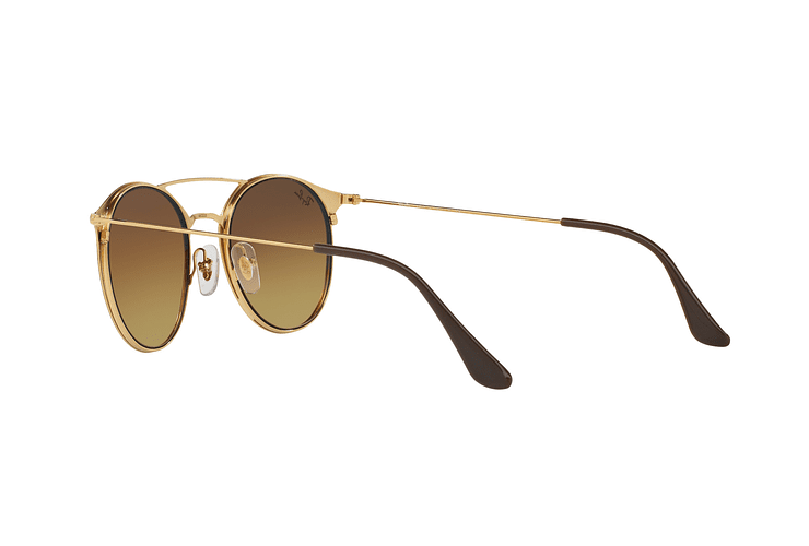 Ray Ban Round RB3546 Gold Top Brown lente Brown Gradient cod. RB3546 900985 49 - Image 4