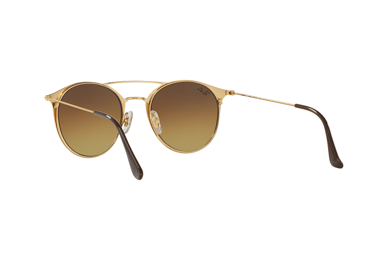Ray Ban Round RB3546 Gold Top Brown lente Brown Gradient cod. RB3546 900985 49 - Image 5