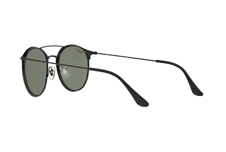Ray Ban Round RB3546 Black Top Matte Black lente Green Polarized cod. RB3546 186/9A 49 - Image 4