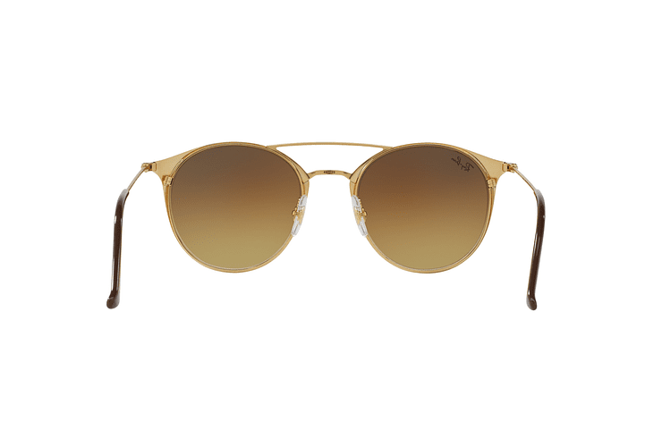 Ray Ban Round RB3546 Gold Top Brown lente Brown Gradient cod. RB3546 900985 49 - Image 6