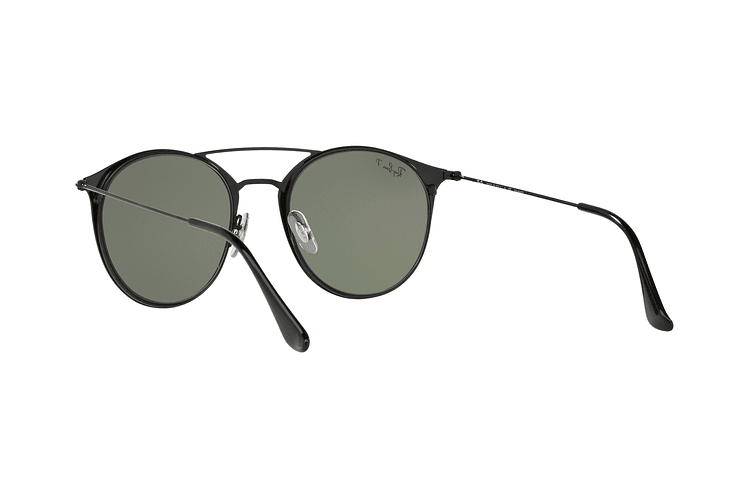 Ray Ban Round RB3546 Black Top Matte Black lente Green Polarized cod. RB3546 186/9A 49 - Image 5