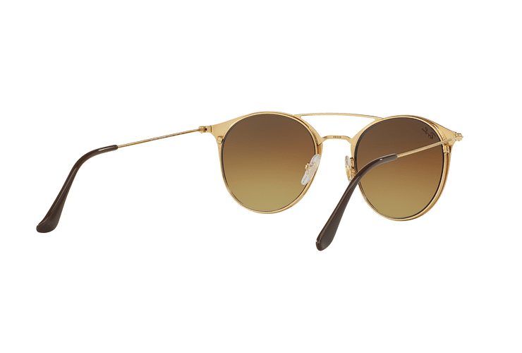 Ray Ban Round RB3546 Gold Top Brown lente Brown Gradient cod. RB3546 900985 49 - Image 7