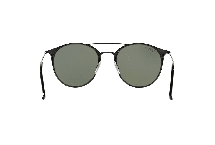 Ray Ban Round RB3546 Black Top Matte Black lente Green Polarized cod. RB3546 186/9A 49 - Image 6