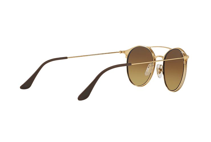 Ray Ban Round RB3546 Gold Top Brown lente Brown Gradient cod. RB3546 900985 49 - Image 8