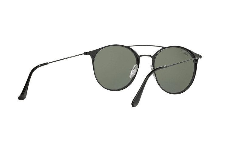Ray Ban Round RB3546 Black Top Matte Black lente Green Polarized cod. RB3546 186/9A 49 - Image 7