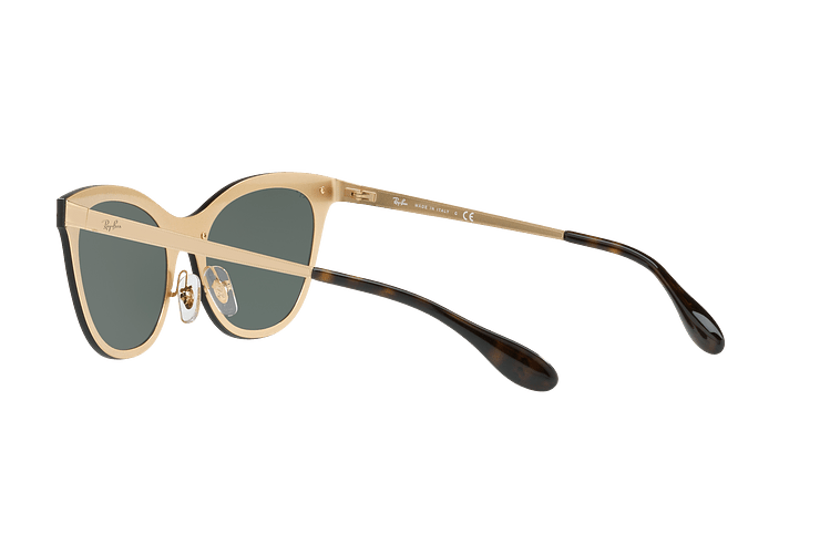 Ray Ban Blaze Cats Brusched Gold lente Dark Green cod. RB3580N 043/71 43 - Image 4