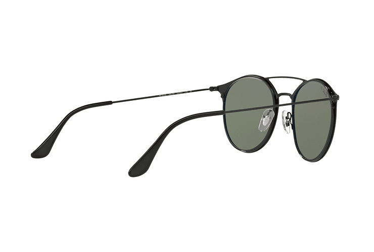 Ray-Ban Round RB3546 Black Top Matte Black lente Green Polarized cod. RB3546 186/9A 49 - Image 8