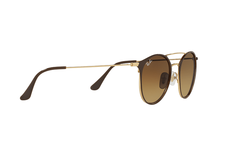 Ray Ban Round RB3546 Gold Top Brown lente Brown Gradient cod. RB3546 900985 49 - Image 10