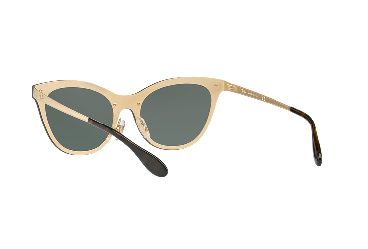 Ray Ban Blaze Cats Brusched Gold lente Dark Green cod. RB3580N 043/71 43 - Image 5