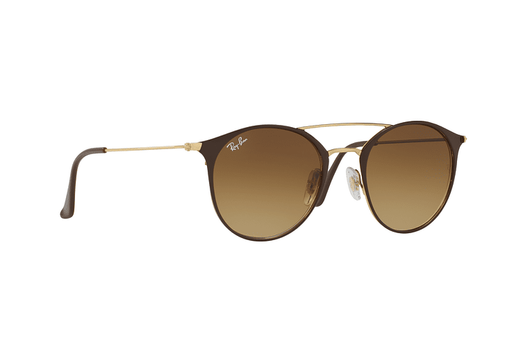 Ray Ban Round RB3546 Gold Top Brown lente Brown Gradient cod. RB3546 900985 49 - Image 11