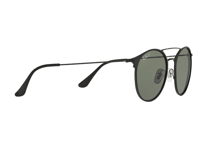 Ray Ban Round RB3546 Black Top Matte Black lente Green Polarized cod. RB3546 186/9A 49 - Image 10