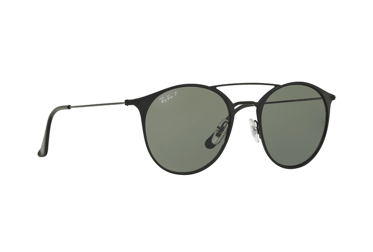 Ray Ban Round RB3546 Black Top Matte Black lente Green Polarized cod. RB3546 186/9A 49 - Image 11