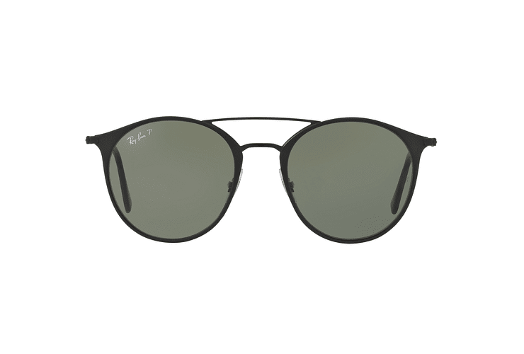 Ray Ban Round RB3546 Black Top Matte Black lente Green Polarized cod. RB3546 186/9A 49 - Image 12