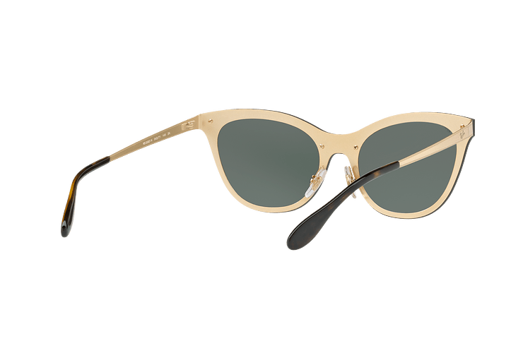 Ray Ban Blaze Cats Brusched Gold lente Dark Green cod. RB3580N 043/71 43 - Image 7
