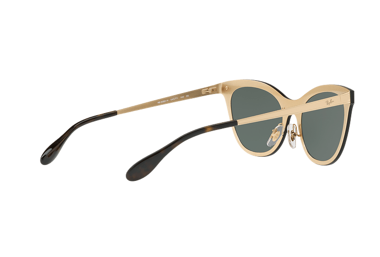 Ray Ban Blaze Cats Brusched Gold lente Dark Green cod. RB3580N 043/71 43 - Image 8