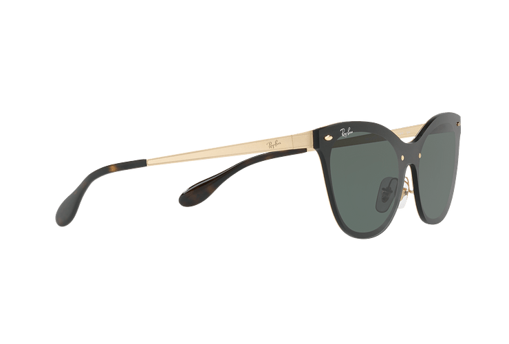 Ray Ban Blaze Cats Brusched Gold lente Dark Green cod. RB3580N 043/71 43 - Image 10