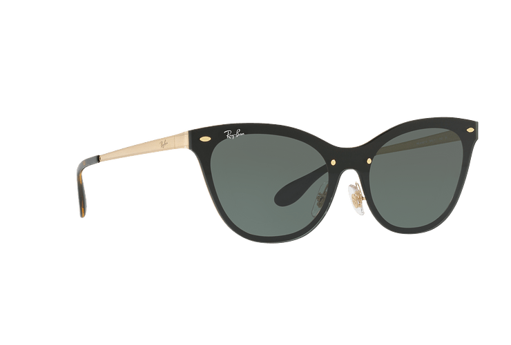 Ray Ban Blaze Cats Brusched Gold lente Dark Green cod. RB3580N 043/71 43 - Image 11