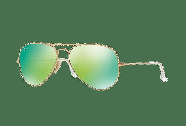 Ray-Ban Aviador Matte Gold lente Green Mirror cod. RB3025 112/19 58 - Image 1