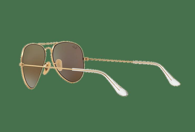 Ray-Ban Aviador Matte Gold lente Green Mirror cod. RB3025 112/19 58 - Image 4