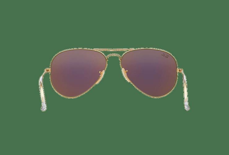 Ray-Ban Aviador Matte Gold lente Green Mirror cod. RB3025 112/19 58 - Image 6