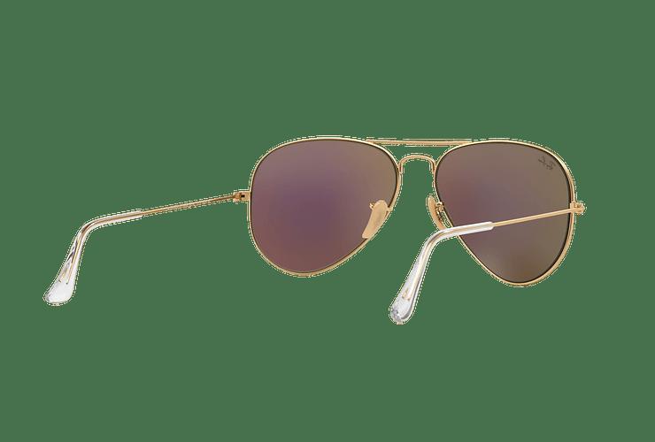 Ray-Ban Aviador Matte Gold lente Green Mirror cod. RB3025 112/19 58 - Image 7