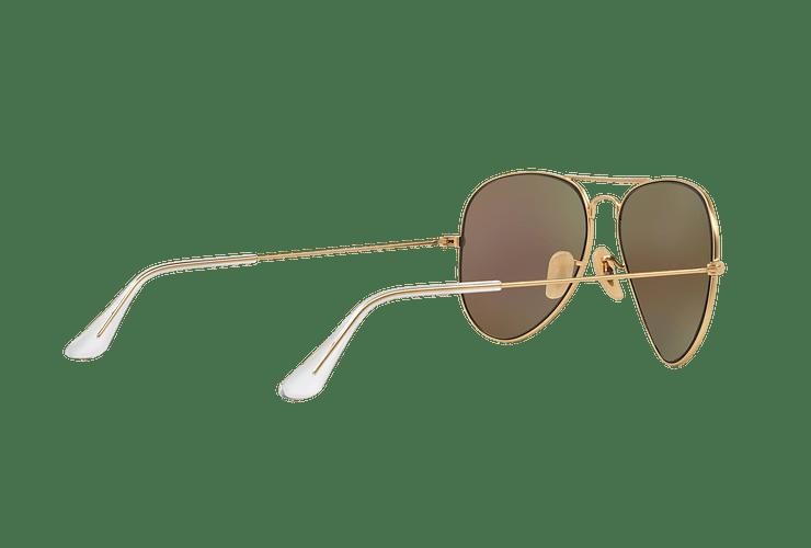 Ray-Ban Aviador Matte Gold lente Green Mirror cod. RB3025 112/19 58 - Image 8