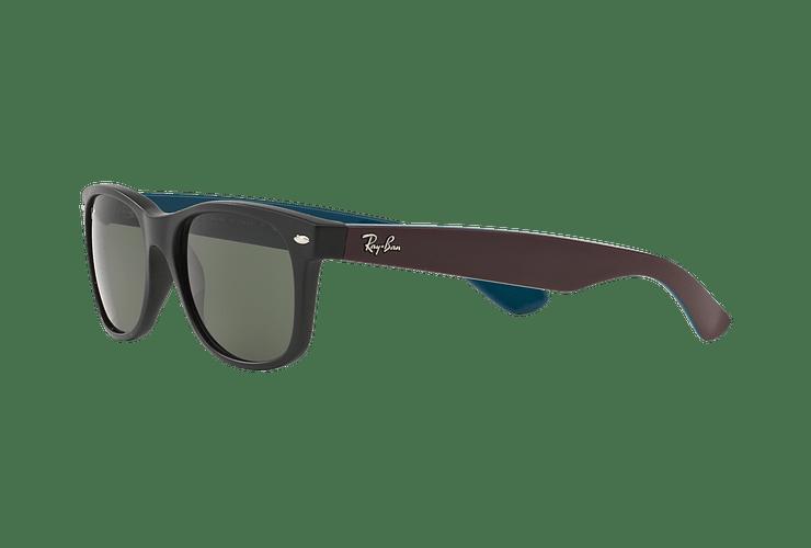 Ray Ban New Wayfarer Matte Black lente Green cod. RB2132 6182 55 - Image 2