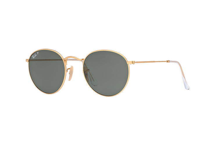Ray Ban Round Metal Matte Gold lente Green Polarized cod. RB3447 112/58 50 - Image 1