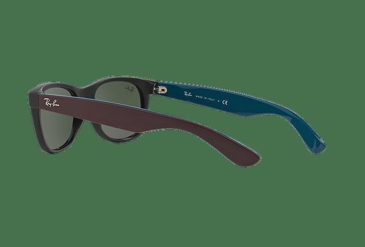 Ray Ban New Wayfarer Matte Black lente Green cod. RB2132 6182 55 - Image 4