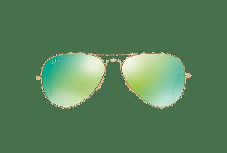 Ray-Ban Aviador Matte Gold lente Green Mirror cod. RB3025 112/19 58 - Image 12