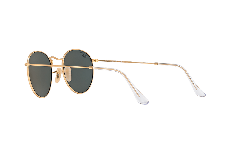 Ray Ban Round Metal Matte Gold lente Green Polarized cod. RB3447 112/58 50 - Image 4